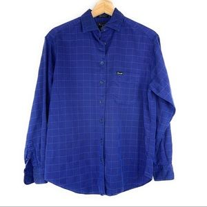 Faconnable Blue Long Sleeve Button Down Shirt
